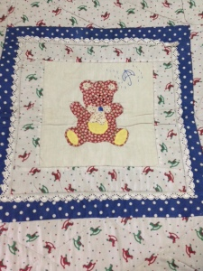 Bear patchwork on ABC quilt