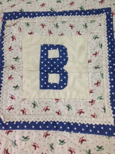 Block B of ABC quilt